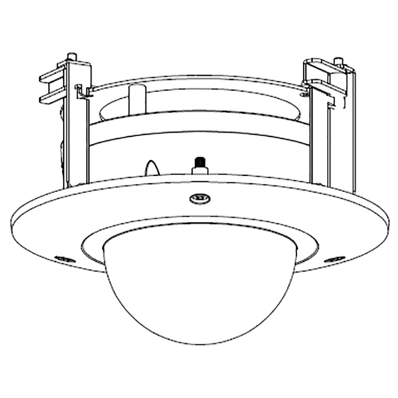 vsbktb200c  recessed ceiling mount bracket
