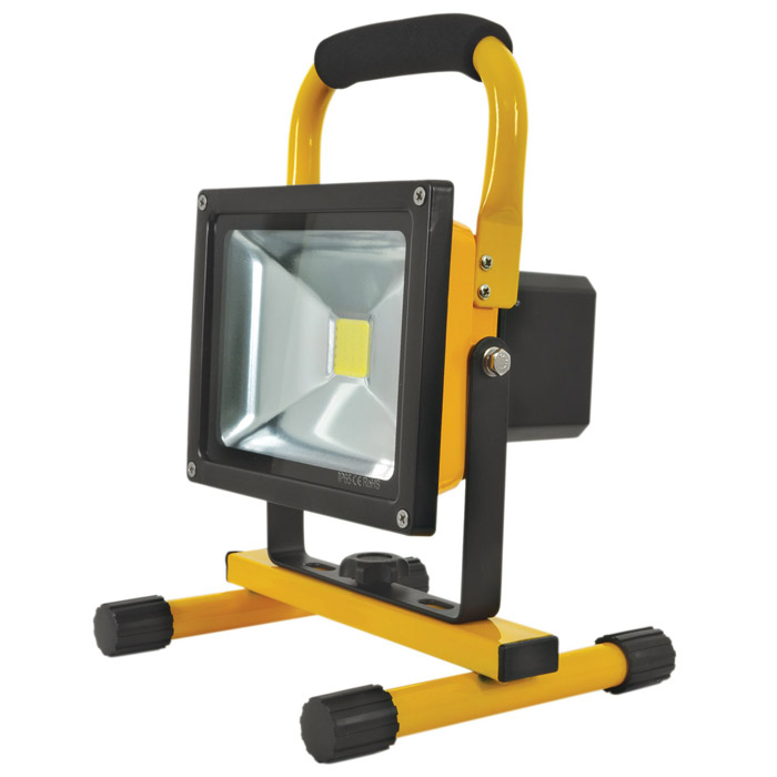 Led Flood Light Rechargeable 20w: LEDFL20W5KR: Portable Rechargeable 20W 5000K LED Flood