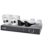 Compact 4 Channel 2.0MP IP Surveillance Kit (2 Domes, 2 Bullets)