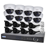 16 Channel 1080p HDCVI Analogue Surveillance Upgrade Kit (8 Domes, 8 Bullets)