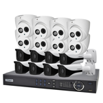 Compact 16 Channel 2.0MP IP Surveillance Kit (8 Domes, 8 Bullets)