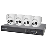 Compact 4 Channel 2.0MP IP Surveillance Kit (4 Domes)