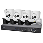 Professional 8 Channel 4.0MP IP Surveillance Kit (4 Domes, 4 Bullets)