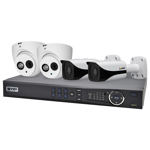 Professional 4 Channel 4.0MP IP Surveillance Kit (2 Domes, 2 Bullets)