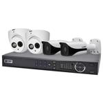 Professional 4 Channel 2.0MP IP Surveillance Kit (2 Domes, 2 Bullets)