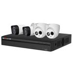 4 Channel 720p HDCVI Compact Surveillance Kit (2 Domes, 2 Bullets)