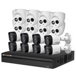 16 Channel 720p HDCVI Compact Surveillance Kit (8 Domes, 8 Bullets)