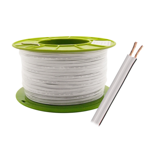 2 x 48/1.5mm Stranded Figure 8 Cable (White) - 100m Roll