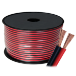 2 x 24/0.75mm Stranded Figure 8 Cable (Red & Black) - 100m Roll