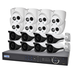 16 Channel 4.0MP HDCVI Surveillance Upgrade Kit (8 Domes, 8 Bullets)