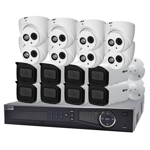Professional 16 Channel 6.0MP IP Surveillance Kit (8 Domes, 8 Bullets)