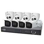 Professional 8 Channel 6.0MP IP Surveillance Kit (4 Domes, 4 Bullets)