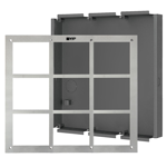 Flush Mount Box & Front Panel - 9 Modules