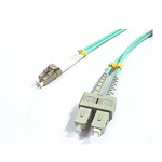 LC-SC OM3 Multimode Fibre Optic Patch Lead - 2m