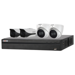 4 Channel 4K HDCVI Compact Surveillance Kit (4 x Fixed Cameras)