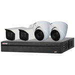 4 Channel 4K HDCVI Compact Surveillance Kit (4 x Motorised Cameras)