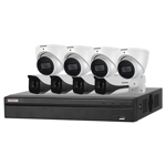 8 Channel 4K HDCVI Compact Surveillance Kit (8 x Fixed Cameras)