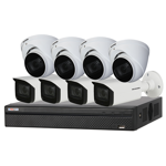 8 Channel 4K HDCVI Compact Surveillance Kit (8 x Motorised Cameras)