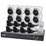 16 Channel 4K HDCVI Compact Surveillance Kit (16 x Fixed Cameras)
