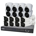 16 Channel 4K HDCVI Compact Surveillance Kit (16 x Motorised Cameras)