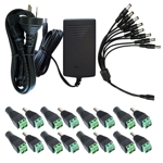 Power Supply Accessory Kit for 8 Channel HDCVI Kits