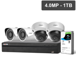 Compact Series 4 Camera 4.0MP IP Surveillance Kit (Fixed, 1TB)