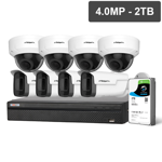 Compact Series 8 Camera 4.0MP IP Surveillance Kit (Motorised, 2TB)