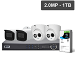 Pro Series 4 Camera 2.0MP IP Surveillance Kit (Fixed, 1TB)