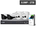 Pro Series 4 Camera 8.0MP IP Surveillance Kit (Fixed, 2TB)