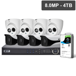 Pro Series 8 Camera 8.0MP IP Surveillance Kit (Fixed, 4TB)