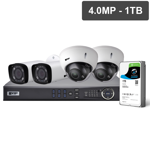 Pro Series 4 Camera 4.0MP IP Surveillance Kit (Motorised, 1TB)