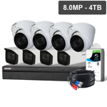 Compact 8 Channel 8.0MP HDCVI Surveillance Kit (8 x Motorised Cameras, 4TB HDD)