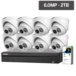 Compact Series 8 Camera 6.0MP IP Surveillance Kit (Fixed, 2TB)