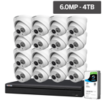 Compact Series 16 Camera 6.0MP IP Surveillance Kit (Fixed, 4TB)