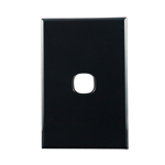Basix S Series Grid Plate 1 Gang - Black