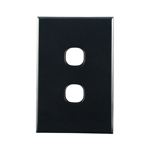 Basix S Series Grid Plate 2 Gang - Black