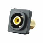 RCA Mechanism Recessed Yellow ID - Black