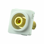 RCA Mechanism Recessed Yellow ID - White