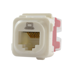 RJ45 CAT5E Data Jack - White