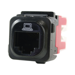RJ45 CAT5E Data Jack - Black