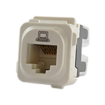 RJ45 CAT6 Data Jack - White