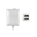 Dual USB Charger Fast Charge - White