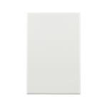 Basix S Series Blank Plate - White