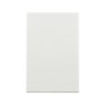 Basix S Series Blank Plate - White