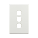 Basix S Series Grid Plate 3 Gang - White