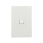 Basix S Series Light Switch 1 Gang - White