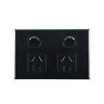 Basix S Series Double Power Point - Black