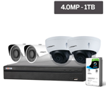 Compact Series 4 Camera 4.0MP IP Surveillance Kit (Fixed, 1TB)