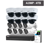 Compact Series 16 Camera 4.0MP IP Surveillance Kit (Fixed, 4TB)