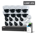Compact Series 16 Camera 4.0MP IP Surveillance Kit (Fixed, 4TB)